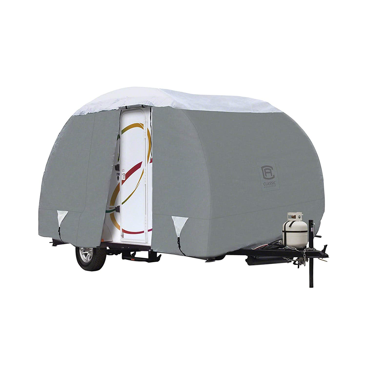 Fits Up To 18 8 Trailers Classic Accessories 80-199-151001-00 Overdrive PolyPro III Deluxe Teardrop R-Pod Travel Trailer Cover