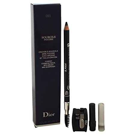 Christian Dior Sourcils Poudre Eye Brow Pencil, No. 093 Black, 0.04 Ounce