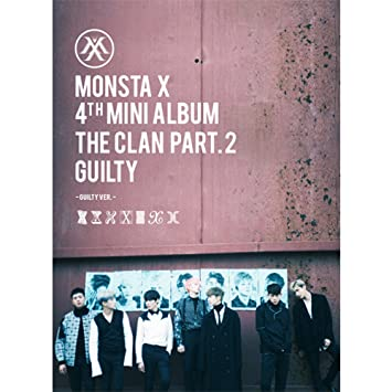 KPOP MONSTA X 4th Mini Album - The CLAN 2 5 Part 2 Guilty [Guilty version]  CD + Poster + Photobook + Photocard