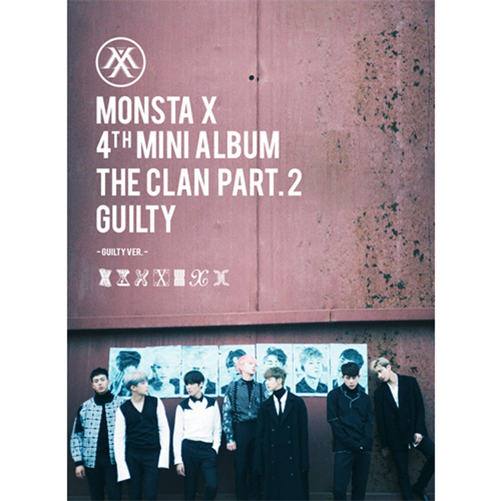 KPOP MONSTA X 4th Mini Album - The CLAN 2.5 Part.2 Guilty [Guilty version] CD + Photobook + Photocard