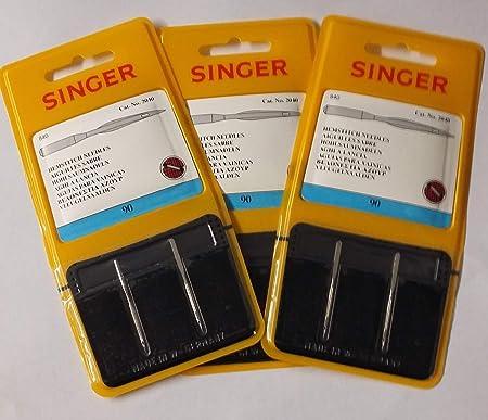 Singer Agujas para máquina de coser de punto de dobladillo/ala ...
