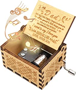 ukebobo Wooden Music Box- You are My Sunshine Music Box, from Son to Father, Gifts for Dad,Newest Design Music Box - 1 Set