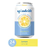 Deals on 24-Pack Spindrift Sparkling Water Lemon Flavored 12oz