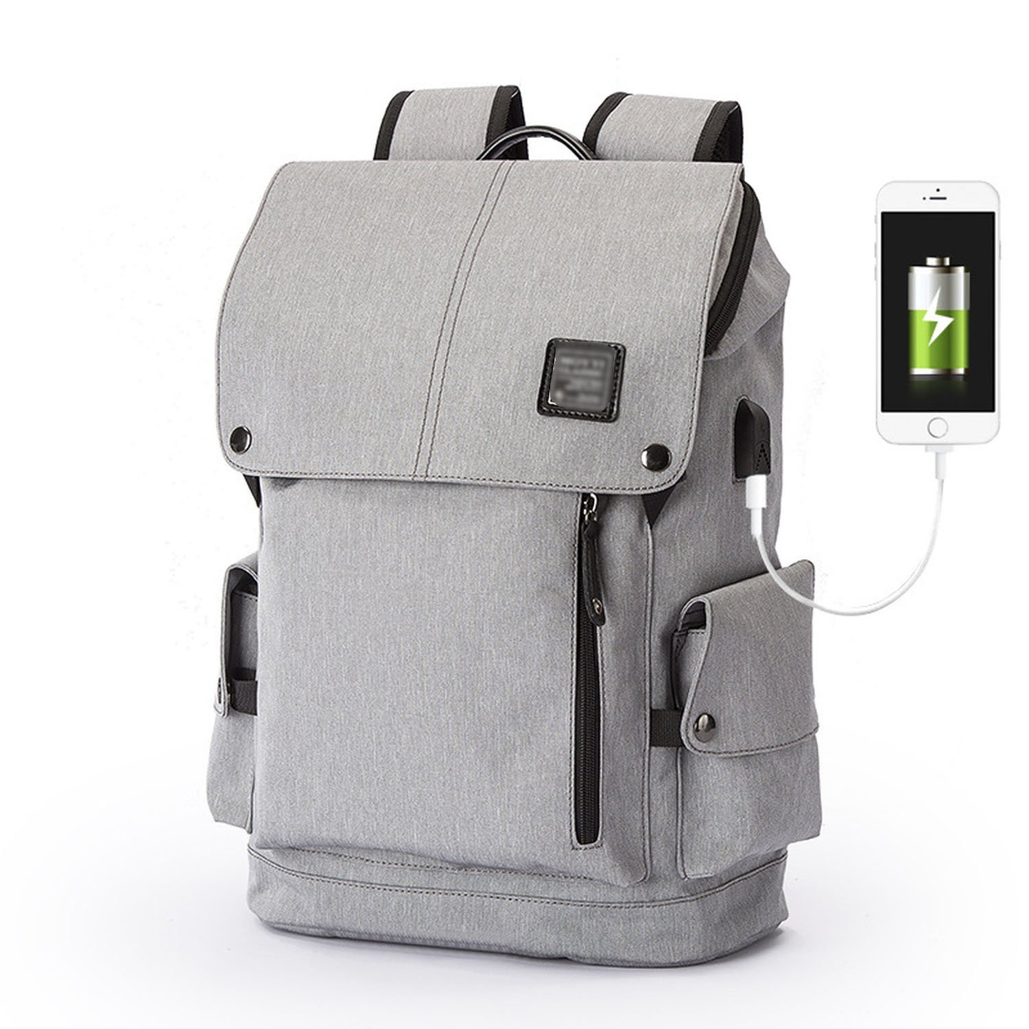 Slim Business Laptop Backpack USB Anti Thief/Tear Water Resistant Travel Computer Backpack 15.6/17Inch,Gray charging
