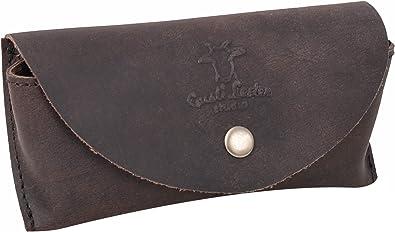 Gusti Cuero studio Estuche De Cuero Funda para Gafas de Sol Espejuelos Lentes Estilo Vintage Retro Piel de Búfalo 2A23-26-3: Amazon.es: Zapatos y complementos