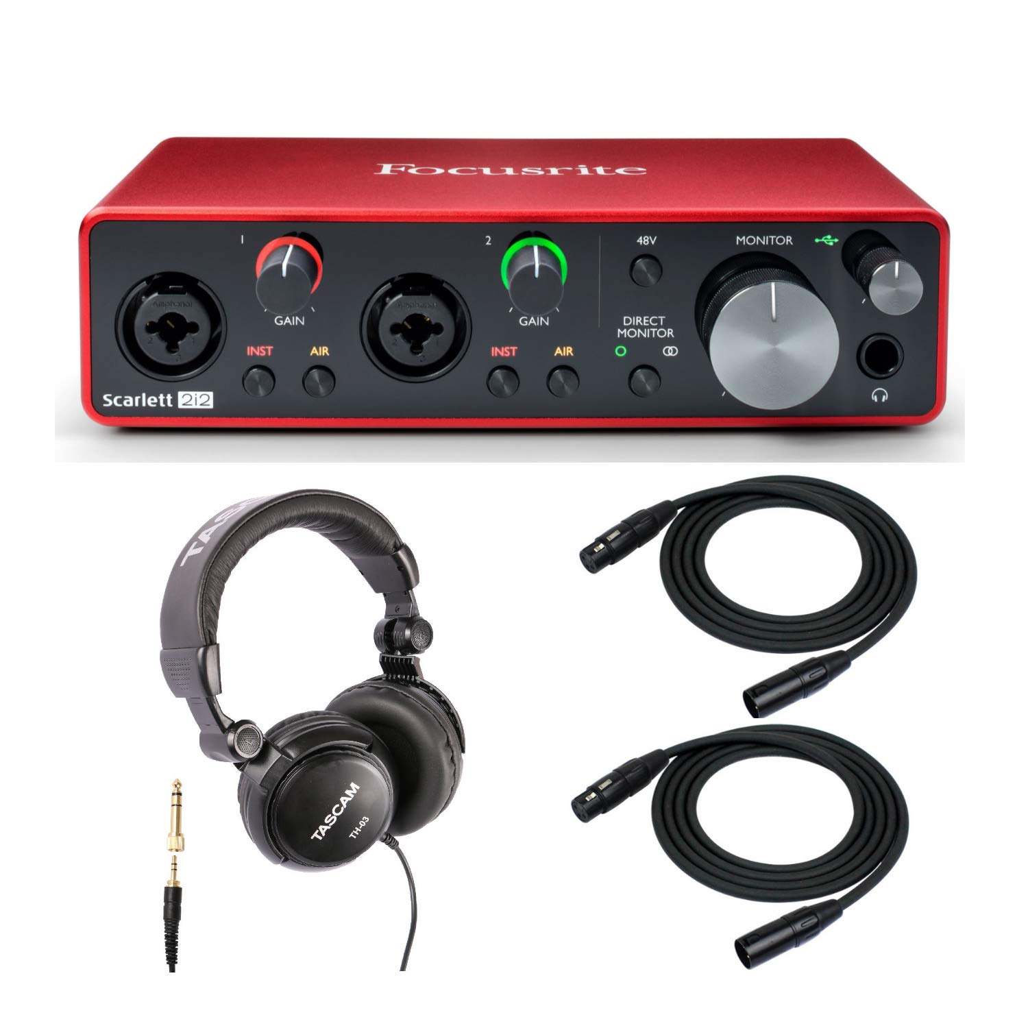 Focusrite 2i2 (3ra Gen)  interfaz de audio USB 2x2 con au..4