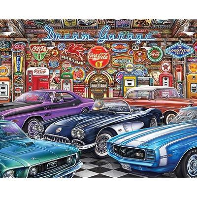 Springbok's 1000 Piece Jigsaw Puzzle Dream Garage: Toys & Games