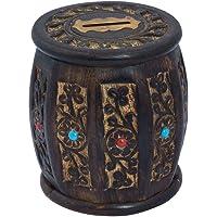 ITOS365 Handmade Wooden Barrel Money Piggy Bank Coin Box Birthday Gifts for Kids, Boys, Girls & Adult