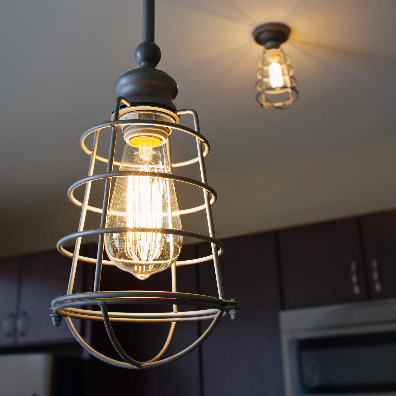 Design House Ajax Industrial Modern Indoor Light with Metal Wire Cage