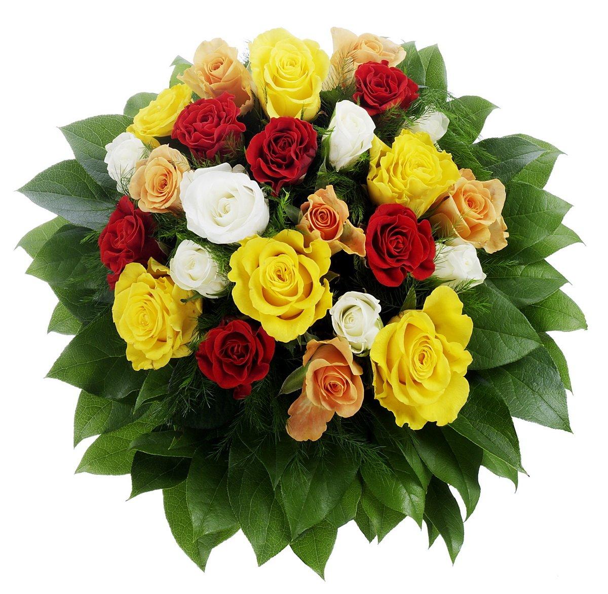 Bunter Rosenstrauß mit 24 Rosen, 1 Strauß