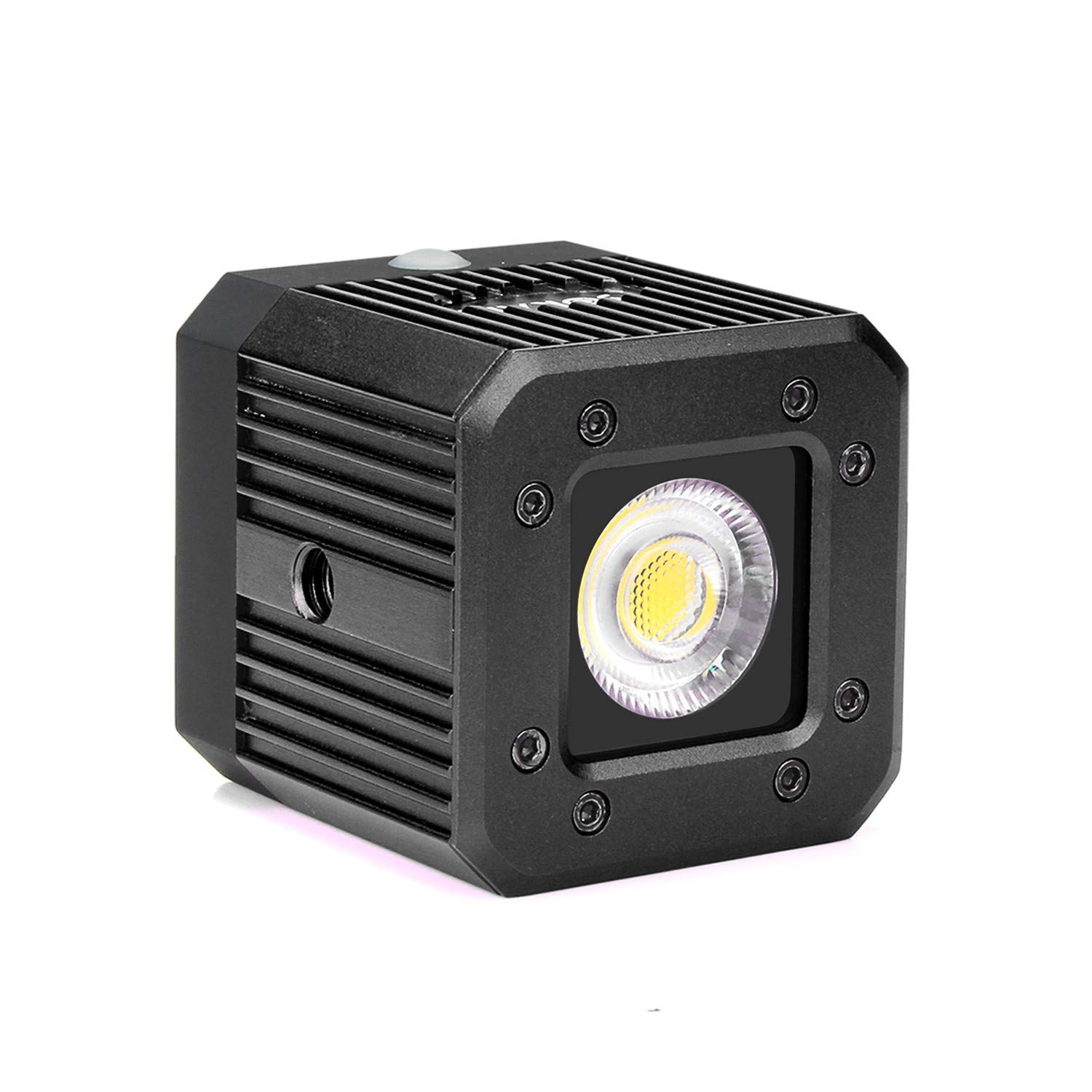 Sokani X1 8W 200LUX/1M Mini Waterproof LED Video Light Aluminum Lighting for Smartphone Camera Drone GoPro iPhone Samsung Sony Nikon Canon DJI Zhiyun Feiyu Moza - Black