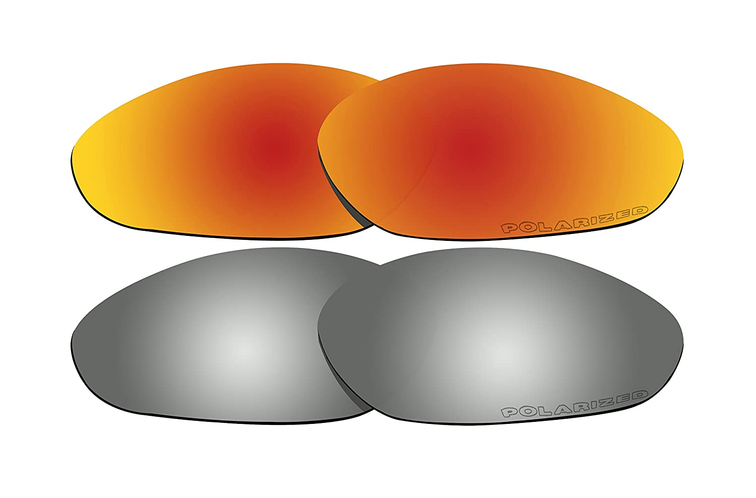 f7e7102ed7 Amazon.com   2 Pairs Polarized Lenses Replacement Red   Black Mirror for Oakley  Minute 2.0 Sunglasses   Sports   Outdoors