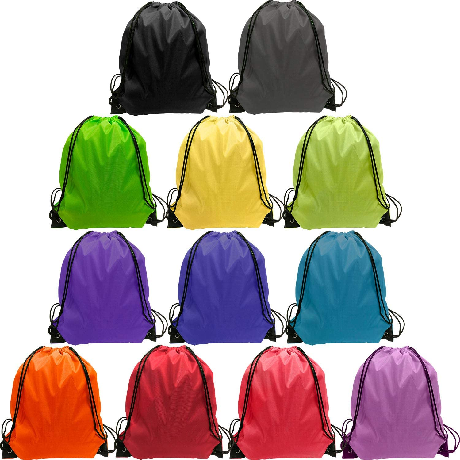 Drawstring Backpack Bags Bulk 24 Pieces Nylon Drawstring Bag Sring Backpack Bags Sport Gym Sack Drawstring Backpack Bag 12 Color Drawstring Backpacks