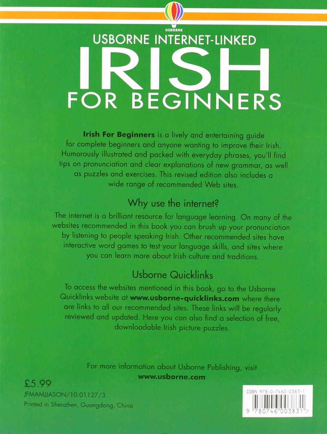 Workbooks english grammar workbook for dummies pdf free download : Irish for Beginners Usborne Language Guide (Language for Beginners ...