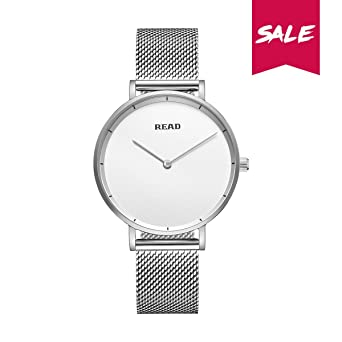 New READ Women Quartz Watches with Mesh Steel Band Waterproof Wristwatch Best Valentines Day Gift for