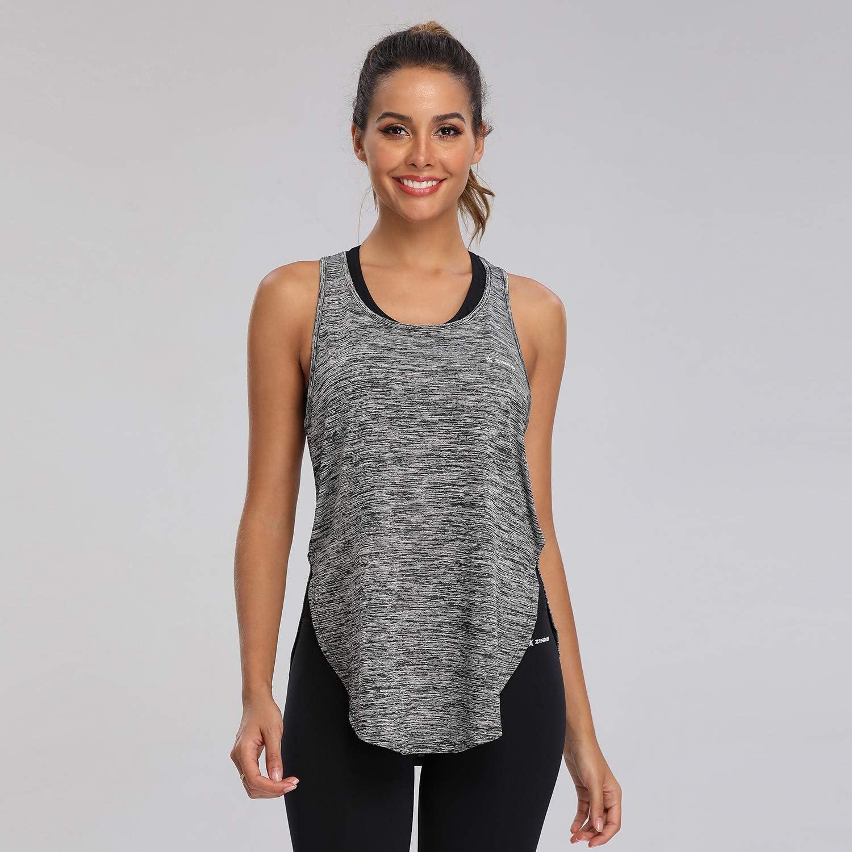 ZINRAY Yoga Tank Top f/ür Damen Racerback Lauftop Fitness Running