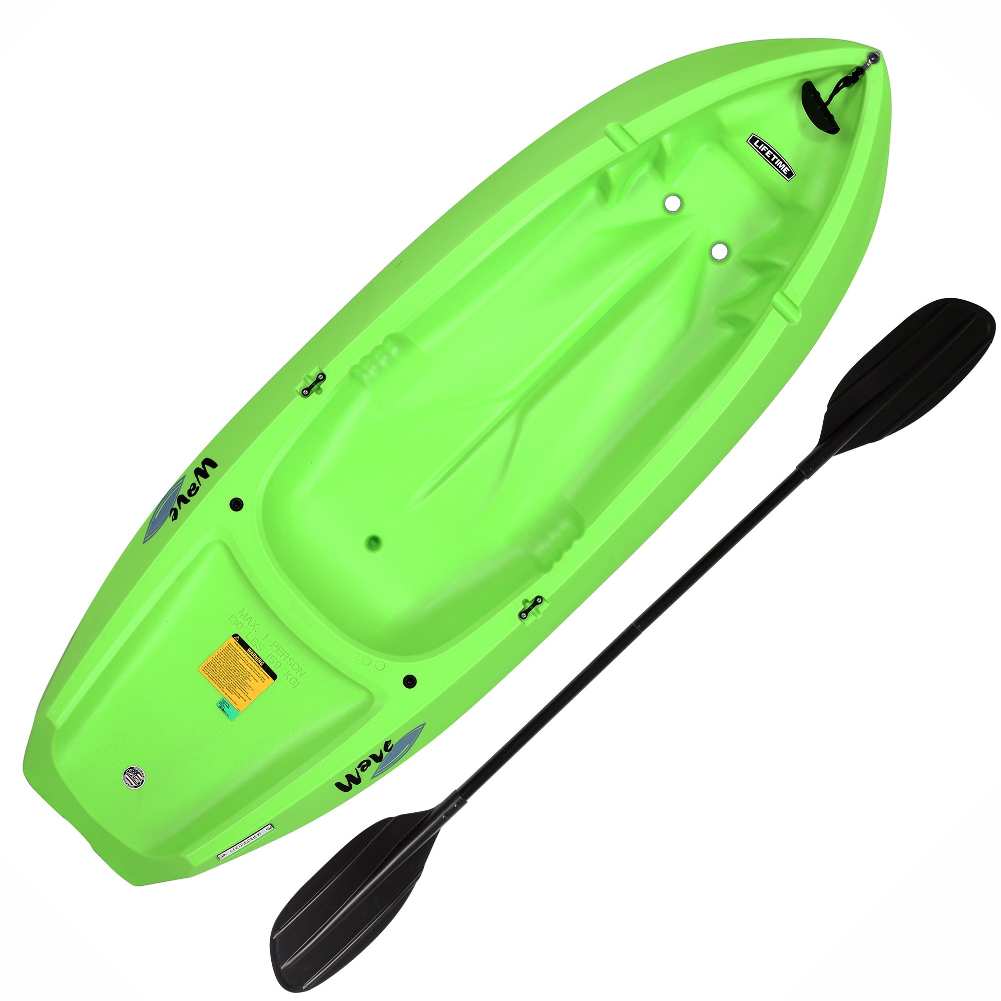 Lifetime Youth Wave Kayak with Paddle, 6 Feet, Green by Lifetime