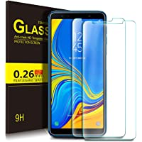 KuGi Samsung Galaxy A7 2018 Schutzfolie, 9H Panzerglas Display Schutzfolie Displayschutzfolie Displayschutz Für for Samsung SM-A750FZBUDBT Galaxy A7 2018 15,36 (6 Zoll) Smartphone. Klar [2 Pack]