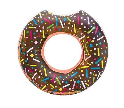 Woodega Bestway® Donut Anillo flotador (Diseño de Donut, 107 cm, Muchos Colores