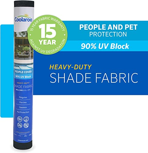 Coolaroo 457785 Shade Fabric with 90 UV Protection 6 x15 , 6 x 15 , Graphite