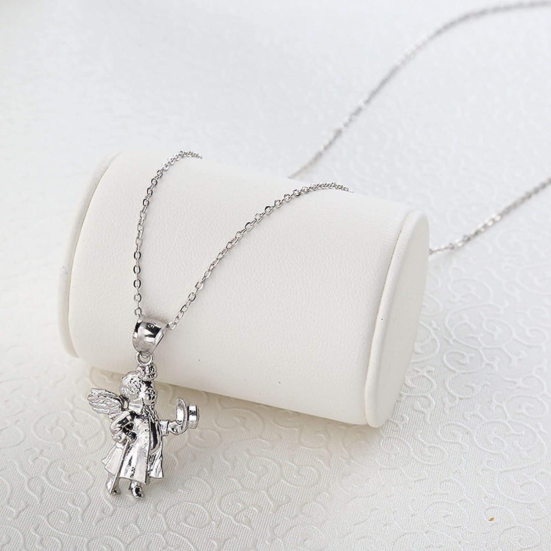 KnSam Mens Necklace Silver Little Angel Friendship Necklace Kids Color Silver