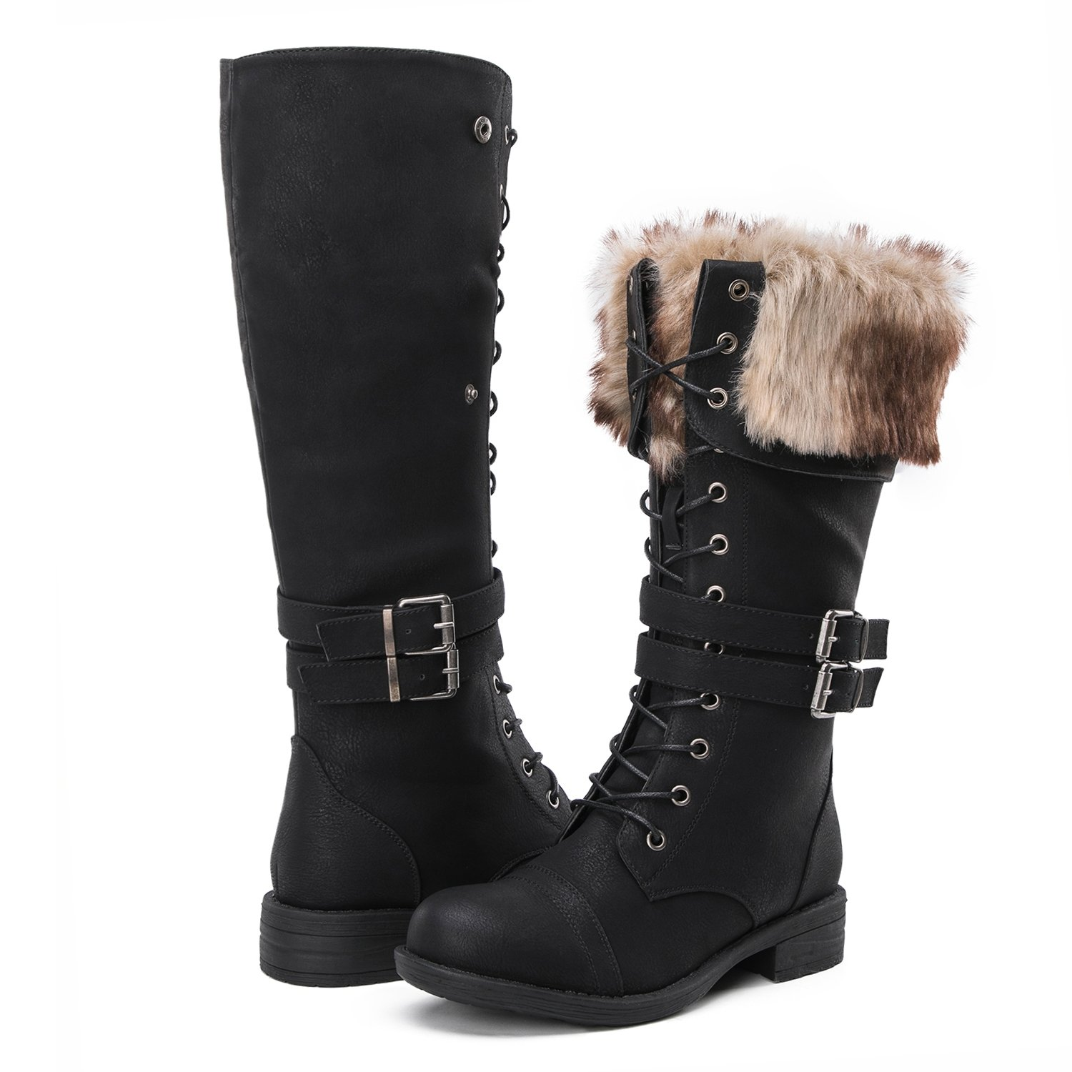 Global Win Women's Fashion Winter Boots (9 D(M) US Women's, YY02Black)