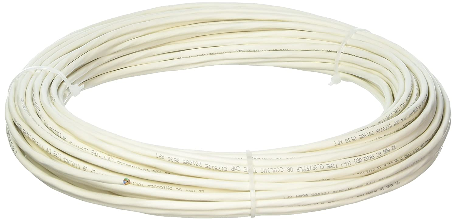 Custom Cable Connection 22 AWG 8 Conductor Stranded Shielded Plenum Cable CL3P White Jacket - 100 Foot Roll in a bag 22109-100