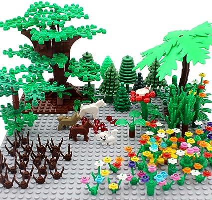Amazon Com Zhx Garden Park Building Block Parts Botanical Scenery
