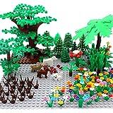 ZHX Garden Park Building Block Parts Botanical Scenery Accessories Plant Set Building Bricks Toy Trees Flowers…