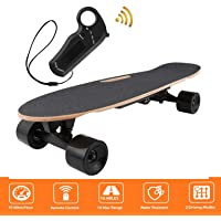 shaofu Electric Skateboard Youth Electric Longboard with Wireless Remote Control, 12 MPH Top Speed, 10 Miles Range (US Stock)