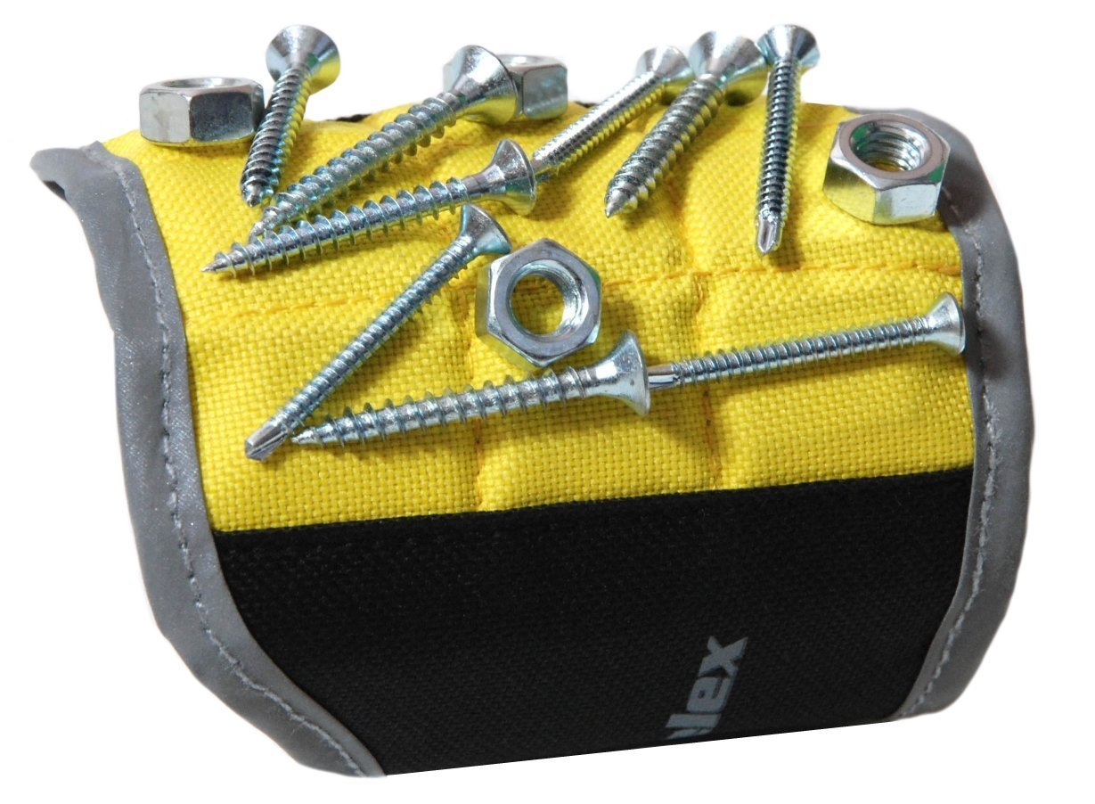 Nails Drilling Bits Screws Boyfriend Magnelex Magnetic Wristband for Holding Tools Husband Father//Dad Unique Gift for Men Handyman 11.2 x 4.1 x 0.1 inches Yellow Bolts