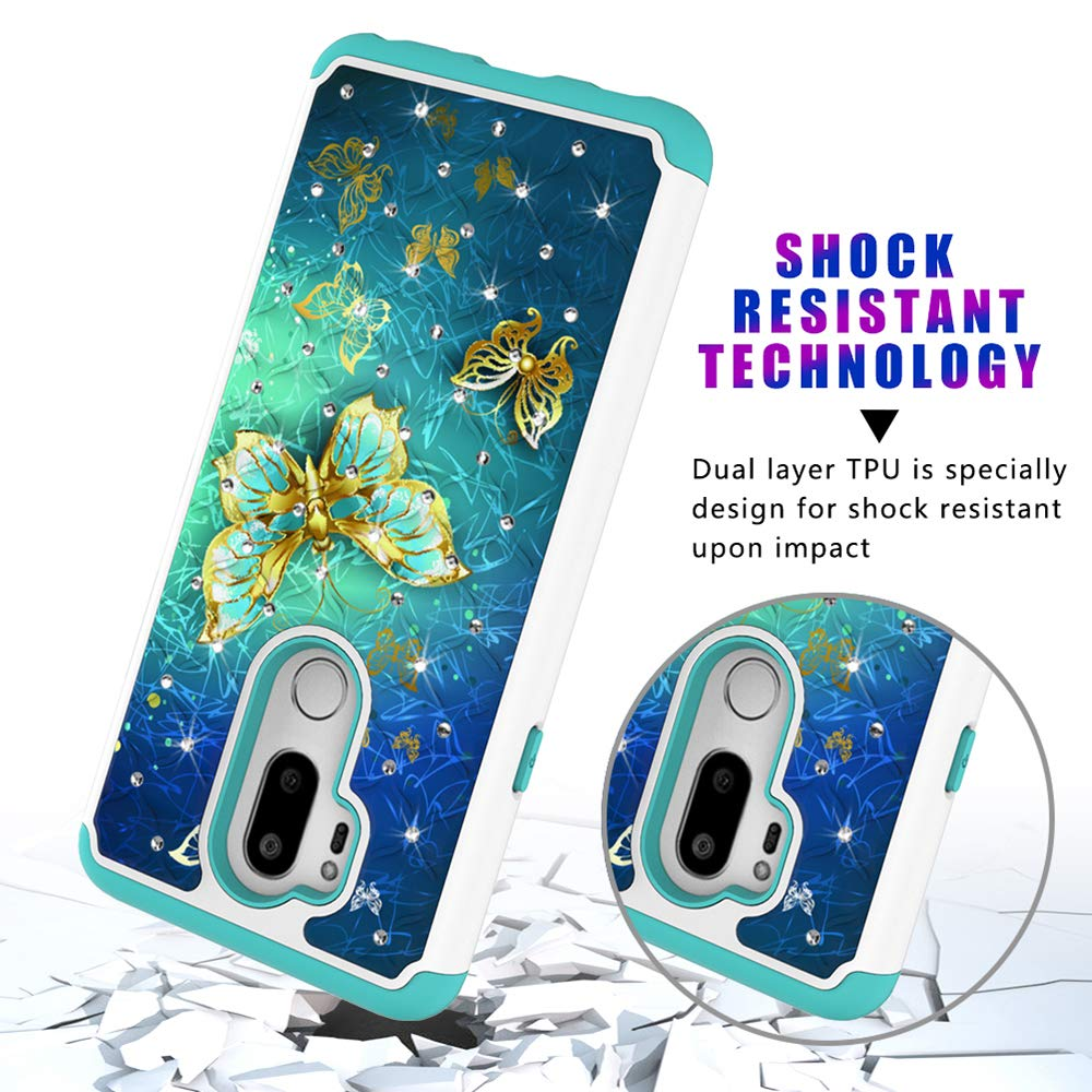 DAMONDY LG G7 Case//LG G7 ThinQ Case Bling Glitter Diamond 2 in 1 Drop Protection Hybrid Heavy Duty Shock Dual Layer Armor Defender 3D Pattern Case Cover Fit for LG G7 ThinQ 2018-cai Dream