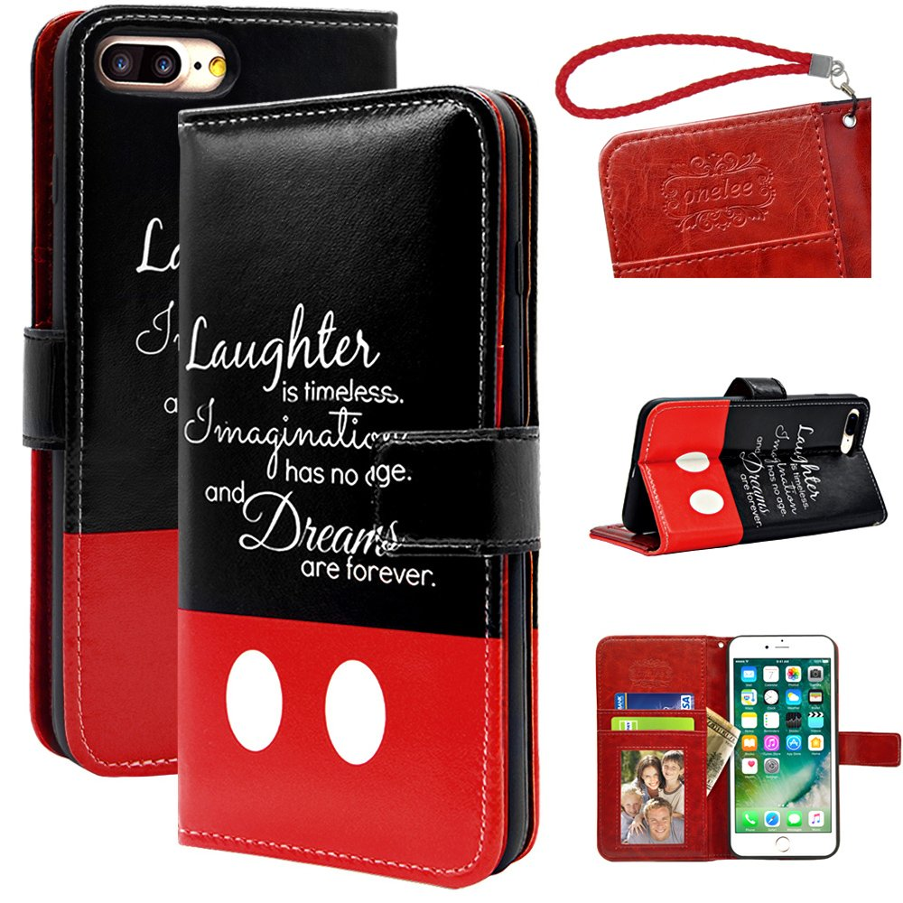 "Disney Quotes iPhone 7 plus 5.5"" wallet Case Onelee Walt ..."