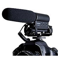 Mondpalast ® Interview enregistrement microphone mic haute sensibilité avec stéréo pour DSLR Nikon Canon Sony Fujifilm Camcorder