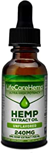 Life Care Hemp - Hemp Extract Oil for Pain Relief - Sleep, Stress, and Anxiety Support Supplement - Herbal Extract Drops - Rich in MCT Fatty Acids - Natural Anti-Inflammatory (1 Fl Oz (30 ml))