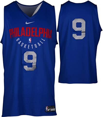 2bb426b514c Dario Saric Philadelphia 76ers Practice-Used  9 Reversible Jersey from the  2017-18