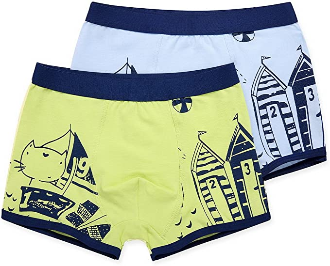 AHATECH Niños pantalones cortos de niño de cara de bóxer de ...