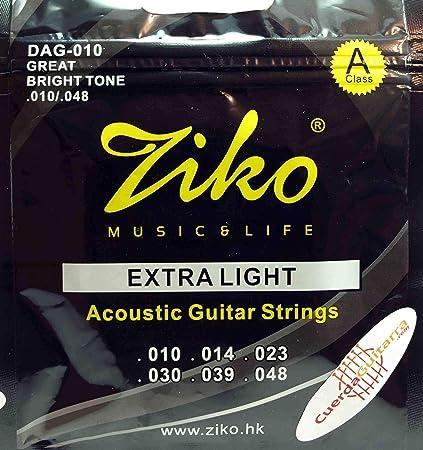 2 Juegos de 6 cuerdas marca ZIKO para guitarra acustica Modelo DAG ...