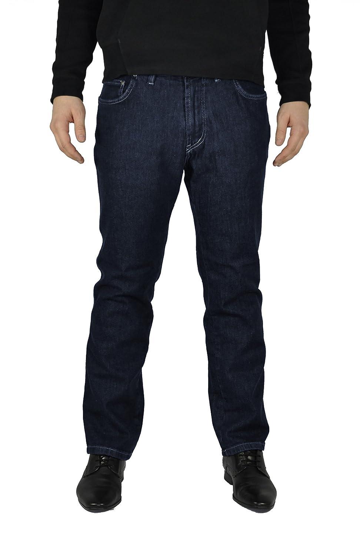 Herren 5 Pocket Jeans in Übergrößen mit Stretch Bund in Schwarz oder Blau (15204100)