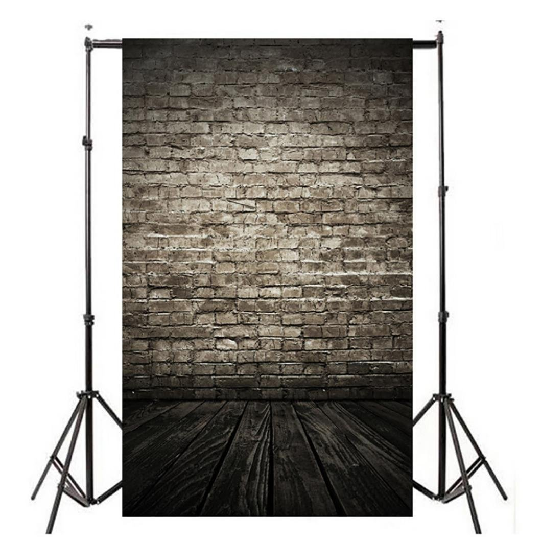 WensLTD Clearance! Vinyl Wood Wall Floor Photography Studio Prop Backdrop Background 3x5FT (A)