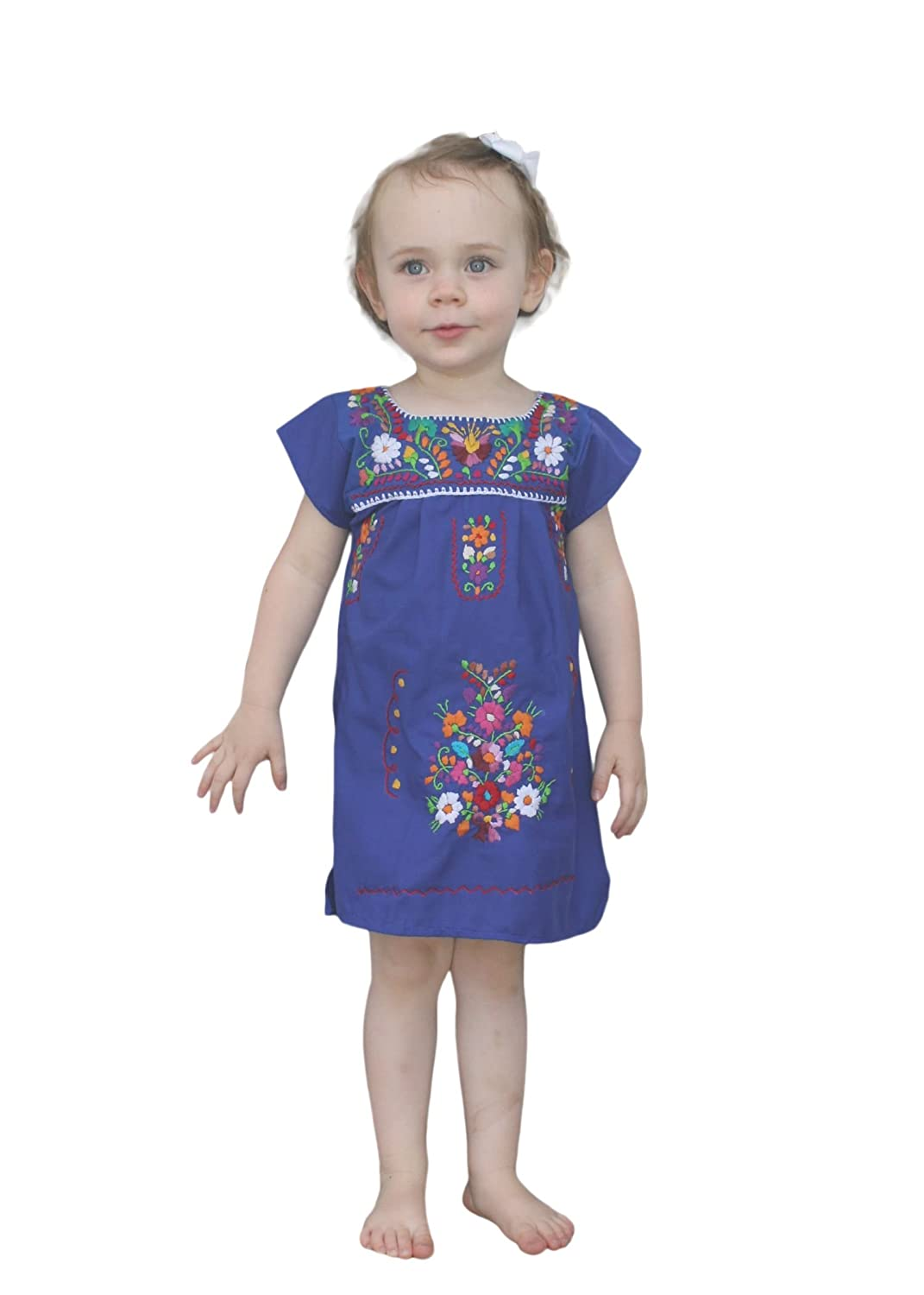 Amazon Liliana Cruz Embroidered Mexican Youth Girls Dress Clothing