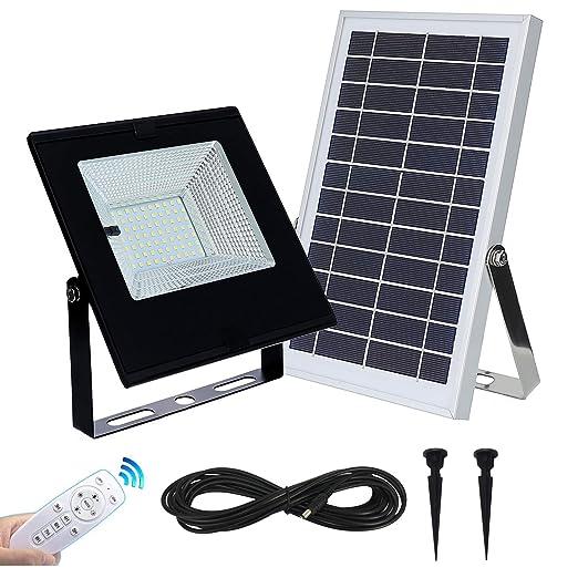 Foco solar con mando a distancia para exteriores e ...