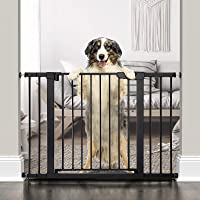"""Cumbor 46""""Auto Close Safety Baby Gate, Extra Tall and Wide Child Gate, Easy Walk Thru Durability Dog Gate for The House…"""