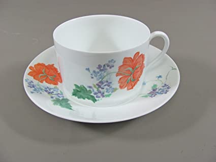 Amazon.com | Ceralene Raynaud Limoges China PAVOT/POPPY Breakfast ...