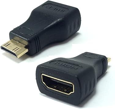 Mini HDMI (tipo C) a hembra estándar HDMI (tipo A) adaptador para ...