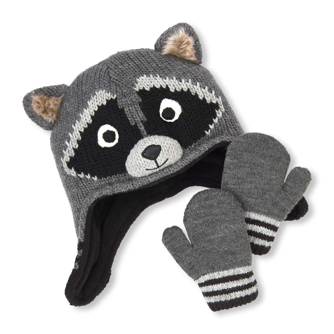 The Children's Place Baby Boys Critter Hat and Mitten Set The Children' s Place