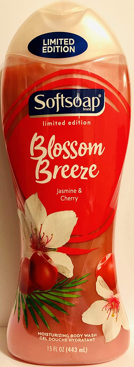 Softsoap Limited Edition Blossom Breeze Body Wash Pack of 2 Bottles