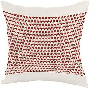 مخدة  بتصميم قلوب حمراء، قماش كانفس 40cm X 40cm