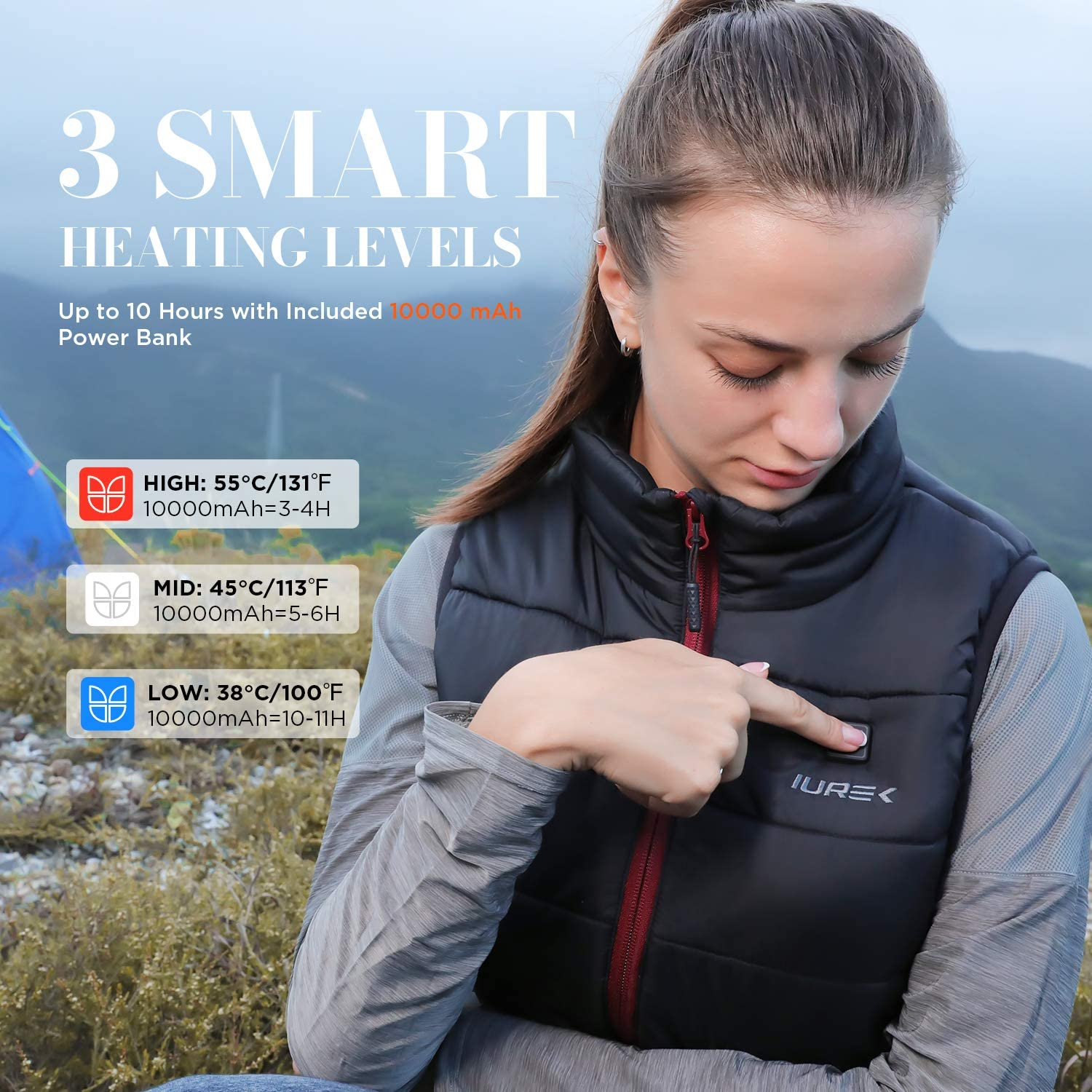 IUREK ZD937 Heated Vest Insulated Heated Apparel for Women Heating clothing