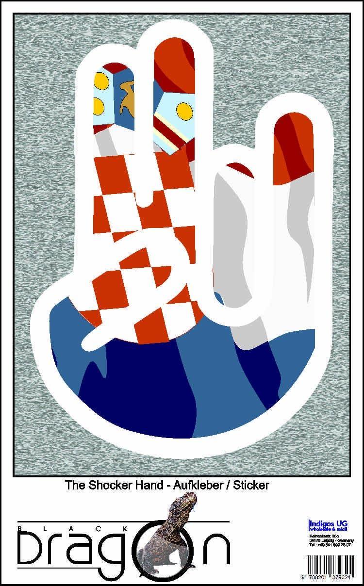 INDIGOS UG The Shocker mano – /Auto – pegatinas Decal Pegatinas 15 cm außenklebend – Blanco Geográfico con bandera/bandera – Croatia de Croacia: Amazon.es: Coche y moto